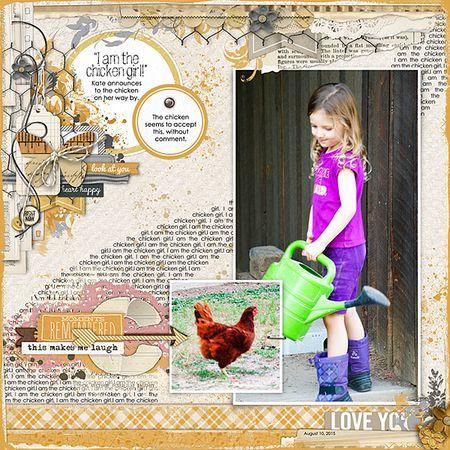 I am the chicken girl 1